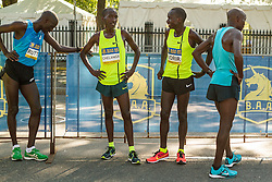 Boston Athletic Association 10K road race: elite Kenya men recover after race