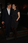 Roger Allam and Jodhi May. Blackbird press night,  Mint Leaf. London. 13 February 2006. ONE TIME USE ONLY - DO NOT ARCHIVE  © Copyright Photograph by Dafydd Jones 66 Stockwell Park Rd. London SW9 0DA Tel 020 7733 0108 www.dafjones.com