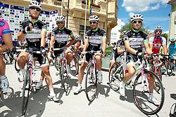 Cyclists of team KK Radenska during 1st Stage (164 km) at 19th Tour de Slovenie 2012, on June 14, 2012, in Celje, Slovenia. (Photo by Urban Urbanc / Sportida)