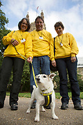 London, UK. Thursday 10th October 2013. Members of the Dogs Trust. MPs and their dogs competing in the Westminster Dog of the Year competition celebrates the unique bond between man and dog - and aims to promote responsible dog ownership.