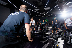 Bristol Flyers take part in a Spin Class at the new Village Hotel in Bristol as part of their new Sponsorship - Ryan Hiscott/JMP - 19/12/2018 - COMMERCIAL - Village Hotel - Bristol, England - Bristol Flyers Announce Village Hotel Sponsorship