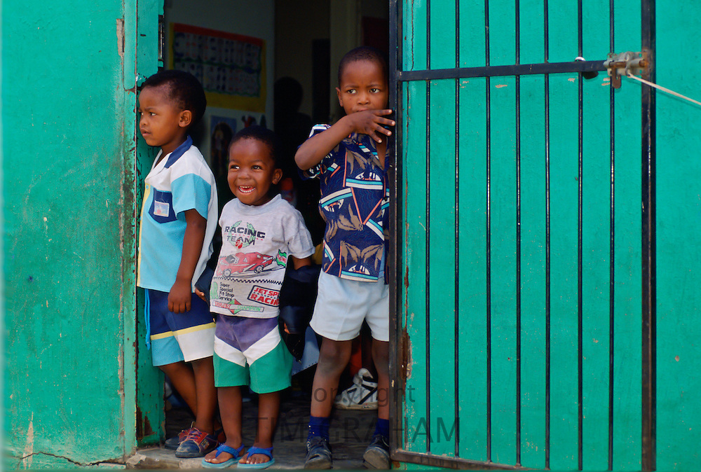 Young boys in Soweto Township, South Africa