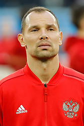 June 19, 2018 - Saint Petersburg, Russia - Sergey Ignashevich of Russia national team during the 2018 FIFA World Cup Russia group A match between Russia and Egypt on June 19, 2018 at Saint Petersburg Stadium in Saint Petersburg, Russia. (Credit Image: © Mike Kireev/NurPhoto via ZUMA Press)