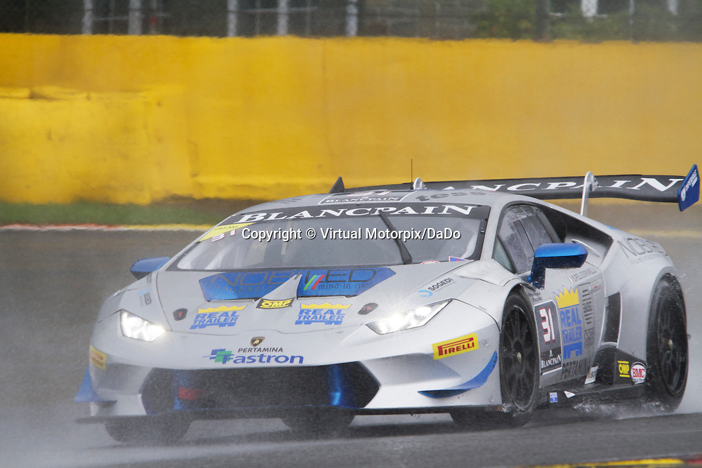 #31 Lamborghini Huracán, S.Pellegrinelli, Imperiale Racing,  Lamborghini BlancPain Super Trofeo 2015