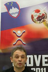 Tone Tiselj, head coach of Slovenia's women team during meeting of RZS - Handball federation of Slovenia, on March 9, 2011 in SRC Stozice, Ljubljana, Slovenia. (Photo By Vid Ponikvar / Sportida.com)