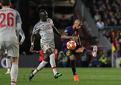 May 1, 2019 - Barcelona, Barcelona, Spain - Arturo Vidal of Barcelona in action during UEFA Champions League football match, between Barcelona and Liverpool, May 01th, in Camp Nou stadium in Barcelona, Spain. (Credit Image: © AFP7 via ZUMA Wire)