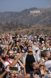 August 21, 2017 - Los Angeles, California, U.S - Thousands of people gather to view a partial solar eclipse at the Griffith Observatory. (Credit Image: © Ringo Chiu via ZUMA Wire)