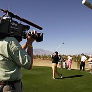 PALM DESERT, CA- January 17, 2006:  ABC Sports cameramen work at the Bob Hope Chrysler Classic in Palm Desert, California on January 17, 2006.  (Photo by Todd Bigelow/Aurora)
