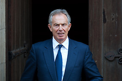 Former Labour Prime Minister Tony Blair  leaves The Royal Courts of Justice in London, Monday 28th May 2012. Photo by i-Images.