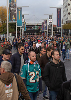 American Football - 2019 NFL Season (NFL International Series, London Games) - Houston Texans vs. Jacksonville Jaguars<br /> <br /> A sea of fans make their way from Wembley park station to the stadium ahead of the final match of the London Series at Wembley Stadium.<br /> <br /> COLORSPORT/DANIEL BEARHAM