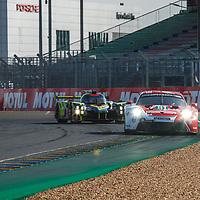 #91, Porsche 911 RSR (2019), Porsche GT Team, drivers: Gianmaria Bruni, Richard Lietz, Frederic Makowiecki, LM GTE Pro, FP2, at the Le Mans 24H, 2020