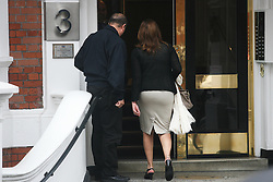 © Licensed to London News Pictures. 21/06/2012. London,Britain.Ana Alban, Ecuadorian Ambassador arrives at the Ecuador embassy. WikiLeaks founder Julian Assange has requested asylum in Ecuador, the South American country's Foreign Minister Ricardo Patino confirmed adding that 'Ecuador is assessing and evaluating this request,'.  Photo credit : Thomas Campean/LNP..