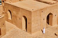 Sultanat d'Oman, région de Al-Dakhiliyah, montagnes du Hajar occidental, château de Jabrin //Sultanate of Oman, Ad-Dakhiliyah Region, Fort Jabrin was built in 1670, was once considered the capital of Oman