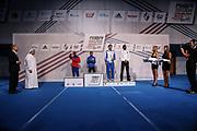 Boxen: AIBA Box-WM, Finale, Hamburg, 02.09.2017<br /> Siegerehrung, 69 Kg: Abass Barou (GER) mit der Bronzemedaille<br /> © Torsten Helmke