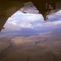 Africa, Kenya, Maasai Mara. Flying over the Great Rift Valley in Kenya.