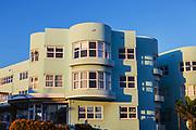 Art Deco Apartments, in warm afternoon light, Bondi Beach, Sydney, Australia