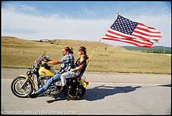 Flying the Flag, I-90, South Dakota, 1994. Limited Edition Print from an edition of 15. Photo ©1994 Michael Lichter.<br /> <br /> Limited Edition Print from an edition of 15. Photo ©1994 Michael Lichter.