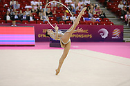 Alessia Russo, Italy, during day one of the 33rd European Rhythmic Gymnastics at Papp Laszlo Budapest Sports Arena, Budapest, Hungary on 19 May 2017. Photo by Myriam Cawston.