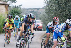 Dani King in the chase group - 2016 Strade Bianche - Elite Women, a 121km road race from Siena to Piazza del Campo on March 5, 2016 in Tuscany, Italy.