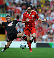 Yossi Benayoun <br /> Liverpool 2009/10<br /> Antonio Lopez Atletico Madrid<br /> Liverpool V Atletico Madrid (1-2) 08/08/09<br /> Pre Season Friendly 2009<br /> Photo Robin Parker Fotosports International