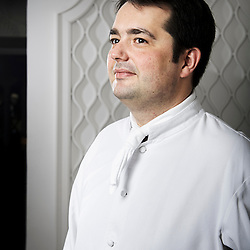 PARIS, FRANCE. APRIL 27, 2011. Jean-Francois Piege, French chef, in his restaurant, at hotel Thoumieux. (photo: Antoine Doyen)