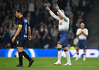 Football - 2018 / 2019 New Tottenham Hotspur Stadium Test Event, Two - Spurs Legends vs. Inter Forever<br /> <br /> Spurs Legends' David Ginola signals to the fans as he is substituted, at Tottenham Hotspur Stadium.<br /> <br /> COLORSPORT/ASHLEY WESTERN