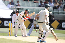 © Licensed to London News Pictures. 29/12/2013. David Warner batting during Day 4 of the Ashes Boxing Day Test Match between Australia Vs England at the MCG on 29 December, 2013 in Melbourne, Australia. Photo credit : Asanka Brendon Ratnayake/LNP