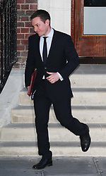 Press Secretary Ed Perkins leaving St.Mary's hospital in London with the official announcement of the birth of the Royal Baby, Monday, 22nd July 2013<br /> Picture by Stephen Lock / i-Images