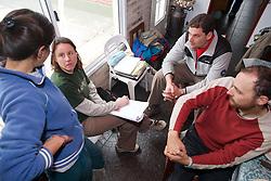 Claudia Talking To Miriam, Guillermo & Greg