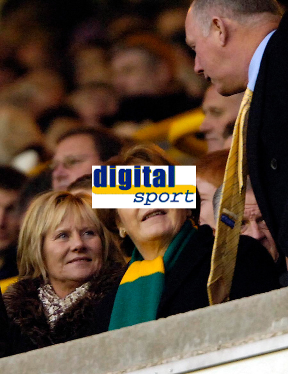 Photo: Ed Godden.<br />Wolverhampton Wanderers v Norwich City. Coca Cola Championship. 23/12/2006. Delia Smith takes her seat to watch her beloved Norwich.