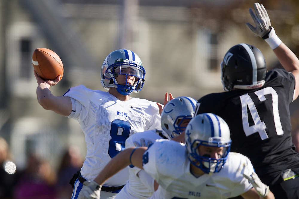Justin Ciero, of Colby College, during a NCAA Division III football game against Bowdoin College on November 9, 2013 in Waterville, ME. (Dustin Satloff/Colby College Athletics)