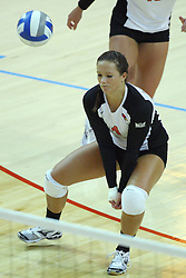 01 September 2012:  Sierra Burris during an NCAA womens volleyball match between the Oregon State Beavers and the Illinois State Redbirds at Redbird Arena in Normal IL