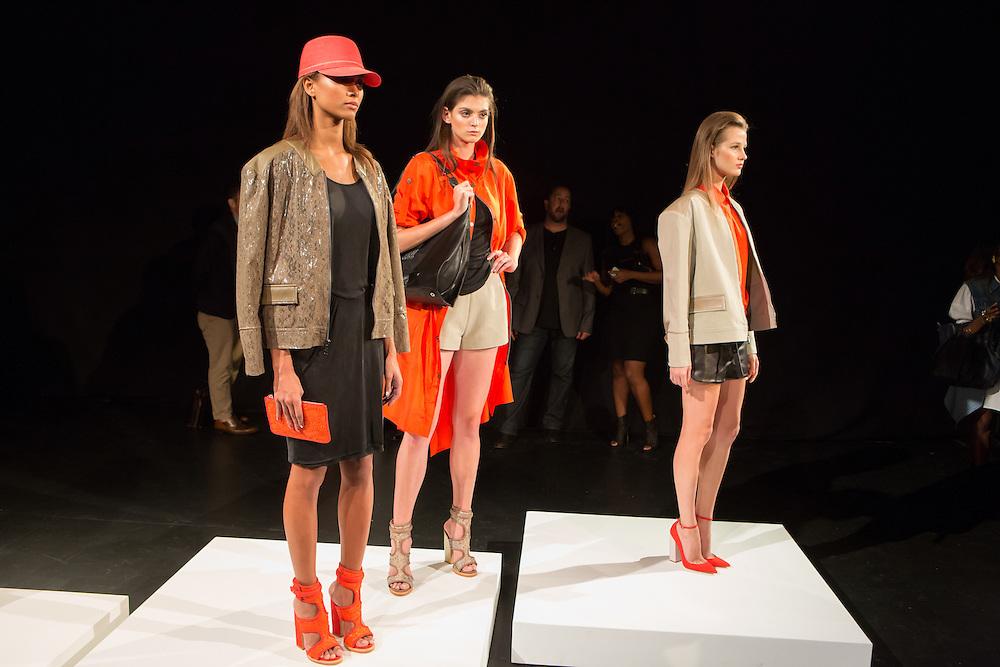 Fashions by Monika Chiang at Spring 2013 Fashion Week in New York.