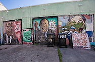 Jan 20, New Orleans LA, Martin Luther King mural in the Treme on the side of a auto repair shop.