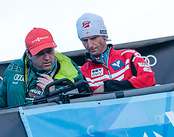01.01.2018, Olympiaschanze, Garmisch Partenkirchen, GER, FIS Weltcup Ski Sprung, Vierschanzentournee, Garmisch Partenkirchen, Wertungsdurchgang, im Bild Cheftrainer Werner Schuster (GER), Cheftrainer Heinz Kuttin (AUT) // Austrian Headcoach Werner Schuster of Germany Headcoach Heinz Kuttin of Austria during the Competition Jump for the Four Hills Tournament of FIS Ski Jumping World Cup at the Olympiaschanze in Garmisch Partenkirchen, Germany on 2018/01/01. EXPA Pictures © 2018, PhotoCredit: EXPA/ JFK