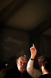 IL VILLAGGIO DI CARTONE. . BARI 25 OTTOBRE 2010<br /> <br /> Ermanno Olmi e Michael Lonsdale sul set<br /> <br /> Foto di KASH GTorsello