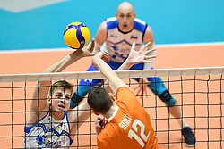 02-01-2020 SLO: Slovenia - Netherlands, Maribor<br /> Tirn Smit of Netherland and Saso Stalekar of Slovenia during friendly volleyball match between National Men teams of Slovenia and Netherlands