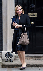 © Licensed to London News Pictures. 23/11/2016. London, UK. Home secretary AMBER RUDD leaves 10 Downing Street in London following a cabinet meeting before Chancellor Philip Hammond delivers his first Autumn statement to parliament. Photo credit: Ben Cawthra/LNP