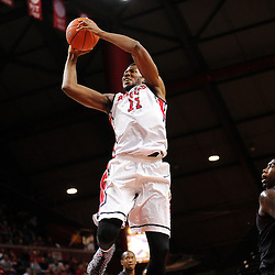 Kadeem Jack #11 of the Rutgers Scarlet Knights jumps for a layup during the second half of Rutgers men's basketball vs Temple Owls in American Athletic Conference play on Jan. 1, 2014 at Rutgers Louis Brown Athletic Center in Piscataway, New Jersey.