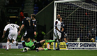 Photo: Paul Thomas.<br /> Bolton Wanderers v West Ham United. The Barclays Premiership. 09/12/2006.<br /> <br /> Kevin Davis (14) scores his second goal for Bolton.