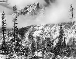 Grand Tetons and Snowy Mist, near Jackson Hole, Wyoming