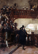 Arrest of Councillor Broussel 26 August 26 August 1648' Jean-Paul Laurens 1838-1921, French Academic painter. Pierre Broussel member of Paris Parlement (c1575-1654) arrested by Mazarin, subsequent rebellion led to first Fronde.