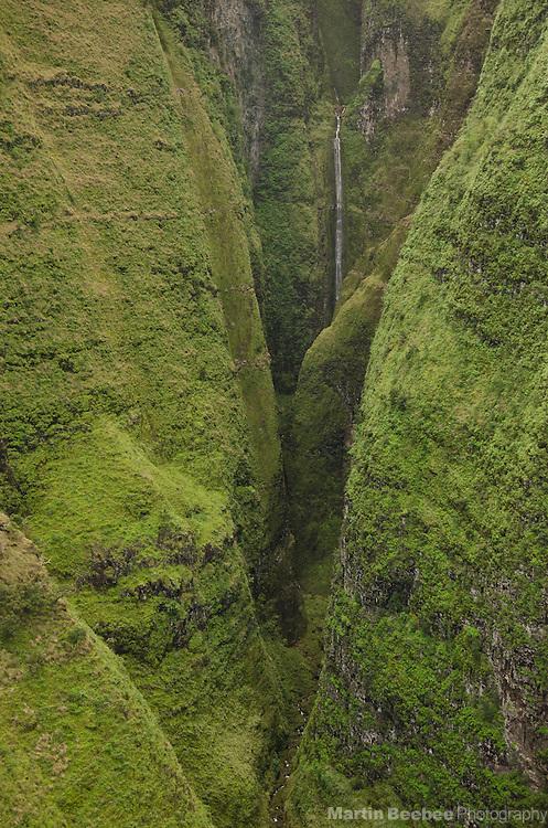 Walls of Honopu Valley on the Na Pali Coast, Kauai, Hawaii