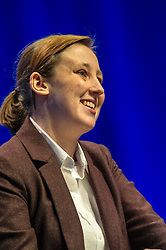 Pictured: Mhairi Black MP, spoke to the conference on Making Scotland's Voice Heard. <br /> The members of the SNP gathered in the Scottish Events Centre in Glasgow for their annual conference.<br /> <br /> Ger Harley | EEm 9 October 2017