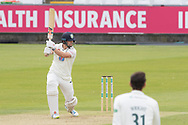 50 - Alex Lees goes to 50 with a cut for 4 during the Specsavers County Champ Div 2 match between Durham County Cricket Club and Leicestershire County Cricket Club at the Emirates Durham ICG Ground, Chester-le-Street, United Kingdom on 18 August 2019.