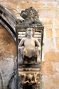 Detail of portal, Saint Mark's (Sveti Marko) Cathedral, Korcula old town, island of  Korcula, Croatia