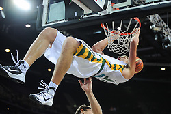 Mindaugas Kuzminskas  of Lithuania during friendly match between National Teams of Slovenia and Lithuania before World Championship Spain 2014 on August 18, 2014 in Kaunas, Lithuania. Photo by Robertas Dackus / Sportida.com