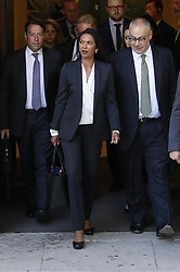 © Licensed to London News Pictures. 19/09/2019. London, UK. Campaigner and business woman Gina Miller leaves The Supreme Court in London where the last day of a three day appeal is being heard in connection with Prime Minister Boris Johnson's suspension of Parliament. Photo credit: Peter Macdiarmid/LNP