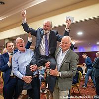 Joe Kileen celebrates after being elected