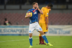 October 28, 2018 - Naples, Naples, Italy - Dries Mertens of SSC Napoli celebrates after scoring during the Serie A TIM match between SSC Napoli and AS Roma at Stadio San Paolo Naples Italy on 28 October 2018. (Credit Image: © Franco Romano/NurPhoto via ZUMA Press)